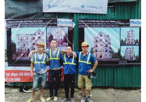 Cập nhật tiến độ xây dựng biệt thự anh Khánh - Cầu Giấy BT2030