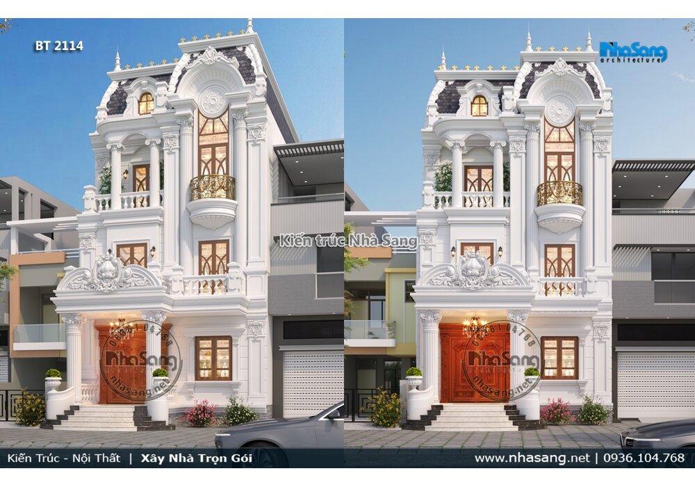 Mặt tiền 7.6m biệt thự kiểu Pháp 3 tầng ai ngắm cũng mê BT2114