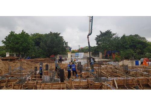 Cập nhật tiến độ thi công xây dựng biệt thự tân cổ điển Pháp 3 tầng ông Tuyển - Thái Bình
