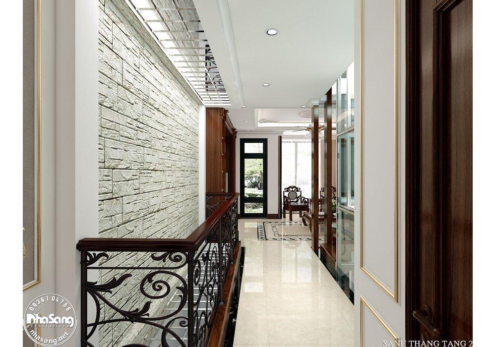 Thiết kế nội thất gỗ tự nhiên nhà phố 4 tầng mặt tiền 5m sang trọng NT2118