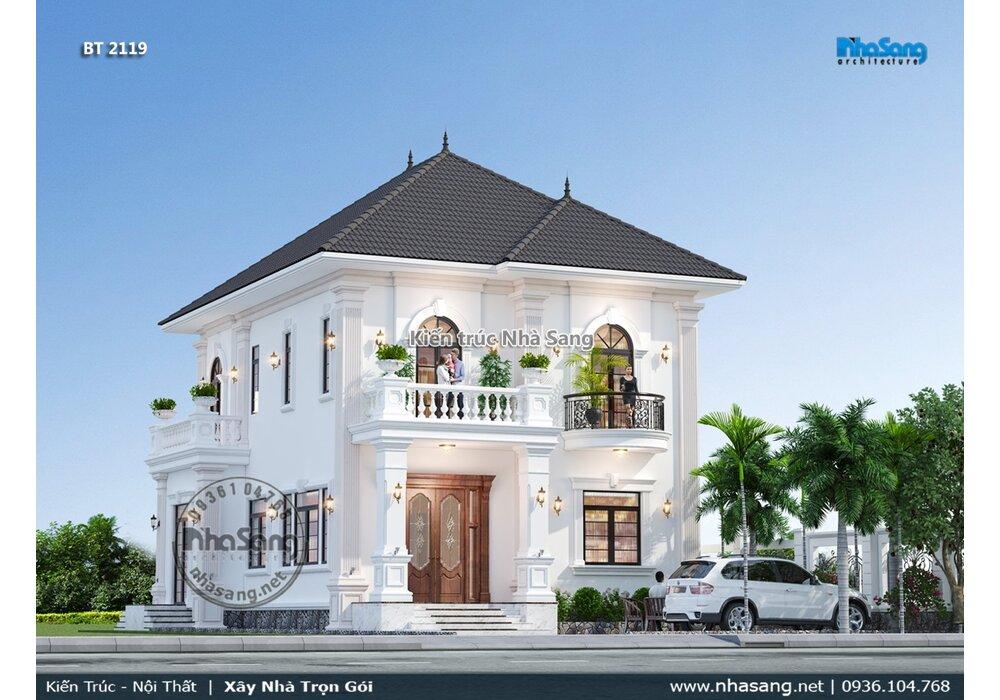 Xuyến xao vẻ đẹp yên bình mẫu nhà vườn 2 tầng mái nhật phòng thờ tầng 1 BT2119