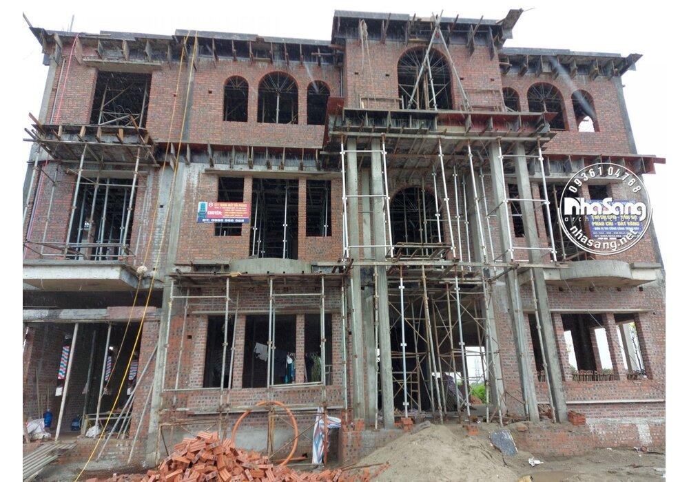 Thi công xây dựng trọn gói dinh thự 3 tầng tân cổ điển tại Bắc Giang