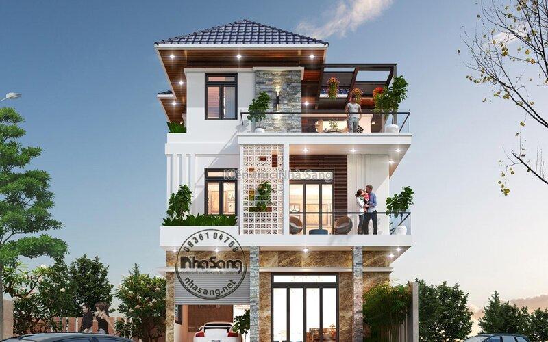 Biệt thự hiện đại mặt tiền 8m Bình Thuận BT2014