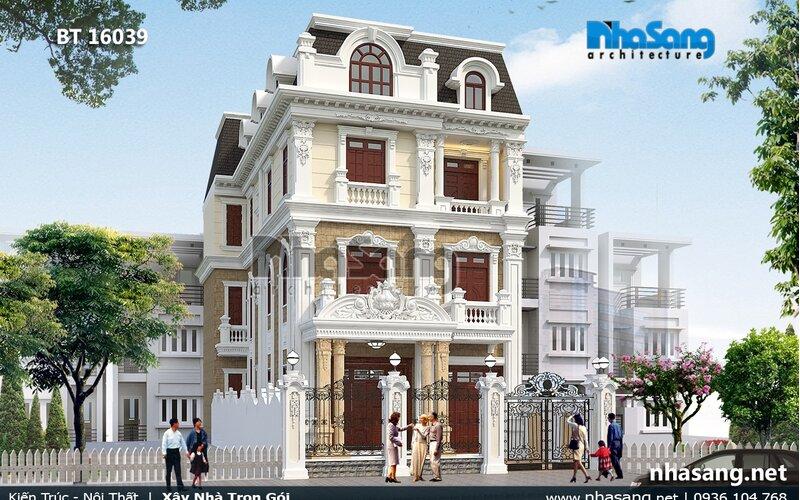 Biệt thự Pháp 3 tầng tinh xảo BT16039