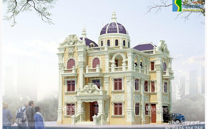 Biệt thự 3,5 tầng Kiến trúc kiểu Pháp BT14142