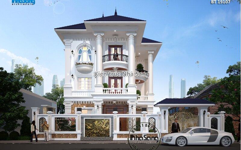 Biệt thự mái thái 3 tầng tại Bắc Ninh BT19107