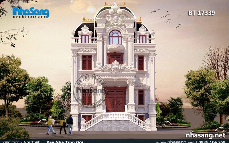 Biệt thự Pháp 4 tầng mặt tiền 10m BT17339