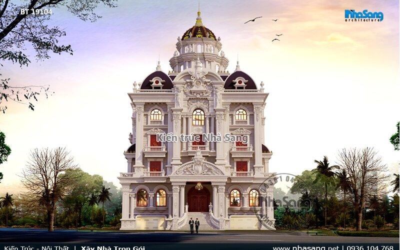 Lâu đài Pháp 4 tầng Ninh Bình lộng lẫy BT19104