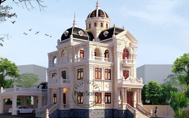 Thiết kế ngoại thất lâu đài Vui Vui tại Bình Dương BT115