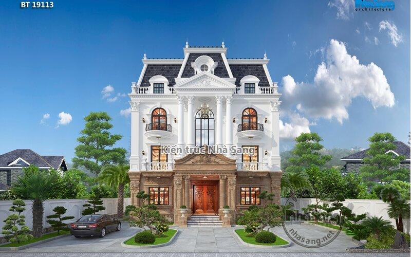 Biệt thự Ninh Bình hoành tráng mặt tiền 16m BT19113