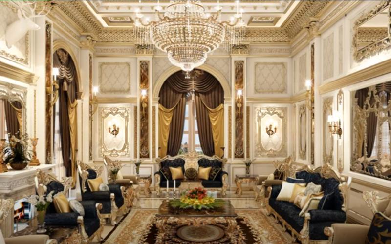 Thiết kế nội thất phòng khách luxury GSF1901