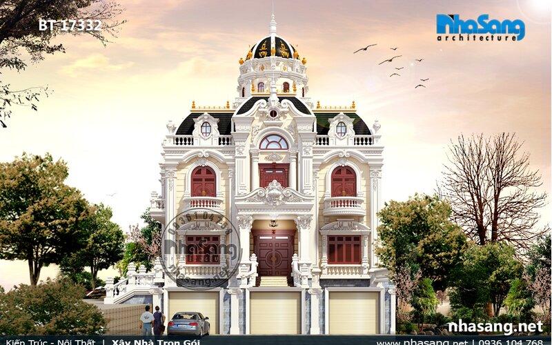 Lâu đài tỷ lệ cân đối có hầm lửng Thanh Hóa BT17332