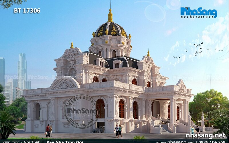 Thiết kế nội thất siêu lâu đài dát vàng 1000m2 BT17306