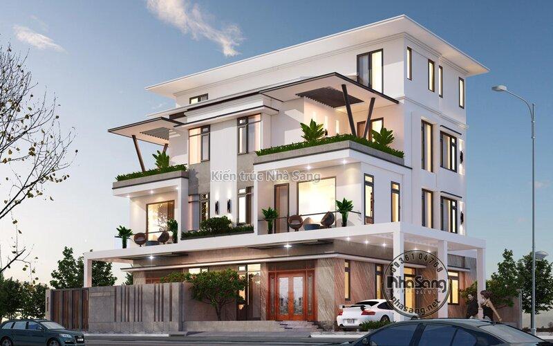 Biệt thự song lập hiện đại tại Hà Nội BT20012