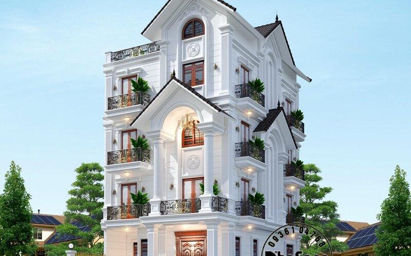 Biệt thự Gia Khánh 2 mặt tiền 5 tầng tại Hà Nội BT2030