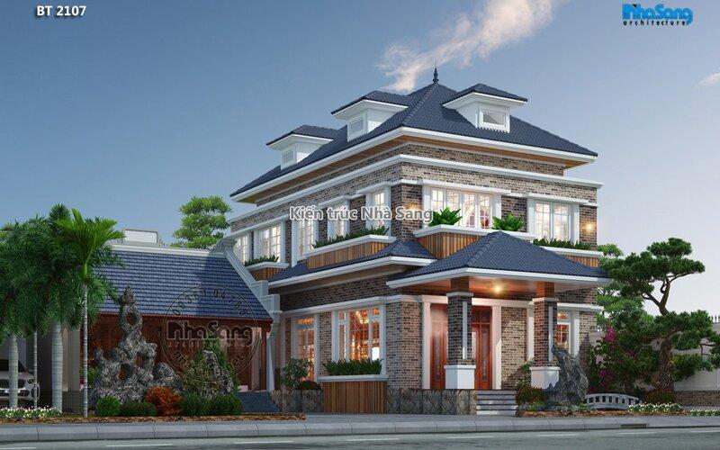 Xây thô tầng 1 biệt thự vườn tại Thanh Hóa BT2107