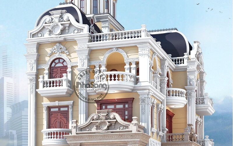 Biệt thự tân cổ điển 3 tầng 12m x 16m BT18111