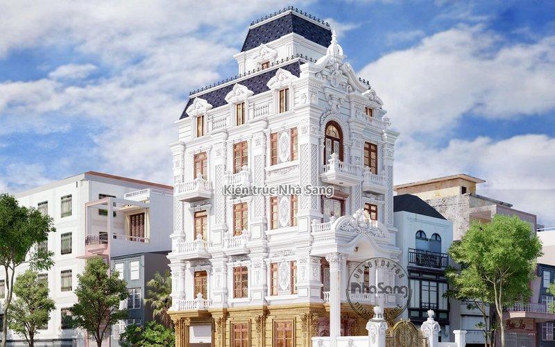 Ngắm nhìn biệt thự phố 5 tầng mặt tiền 7.5m kiến trúc Pháp đẹp đẳng cấp BT19121