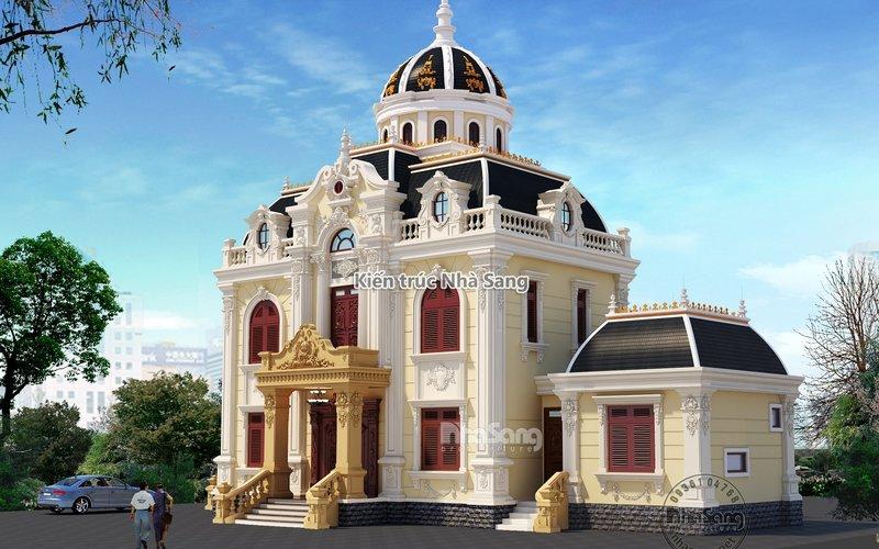 0:04 / 3:05 Mẫu lâu đài Pháp mái vòm mặt tiền 12m tại Nam Định đẳng cấp BT19122