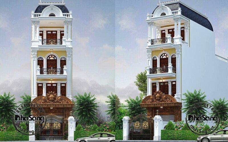 Nhà phố tân cổ điển 4 tầng 5mx15m BT2102