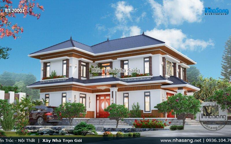 Nhà vườn 2 tầng kiểu Nhật tại Bắc Ninh BT20001