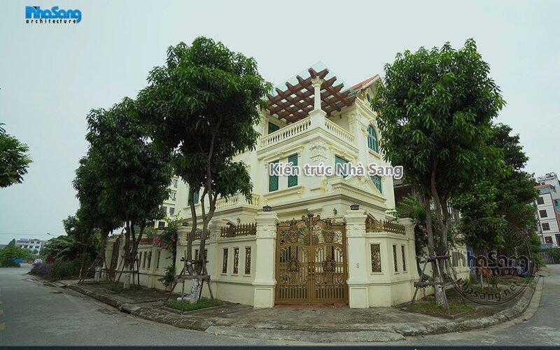 Biệt thự tân cổ điển mái thái 3 tầng đẹp xuất sắc tại Bắc Ninh BT17041
