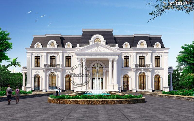 """Dinh thự Châu Âu 2000m2 chất như """"Nhà Trắng"""" giữa lòng Thủ Đô BT18107"""