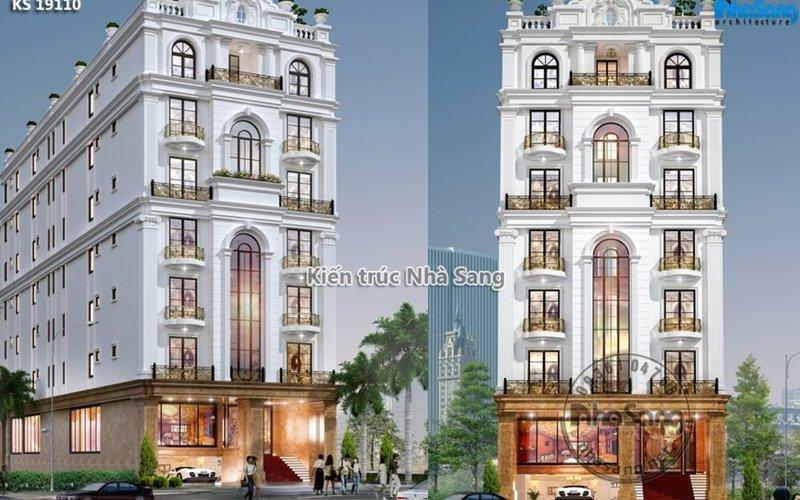 Mẫu thiết kế khách sạn 3 sao 54 phòng nghỉ hạng sang KS19110