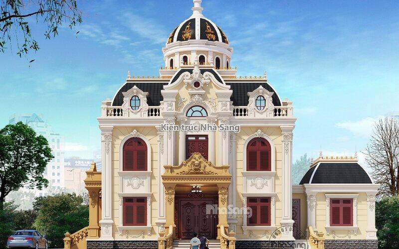 Lâu đài Pháp mái vòm mặt tiền 12m Nam Định BT19122