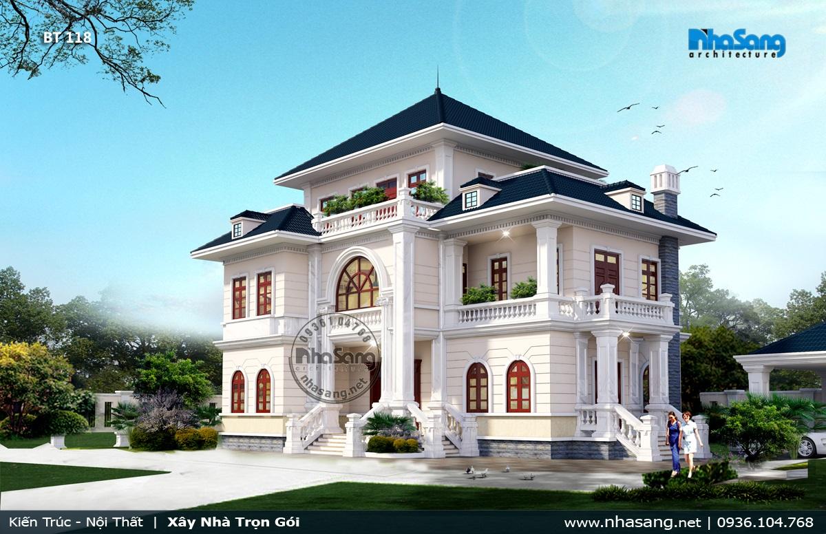 1 Dinh thự kiến trúc Châu âu