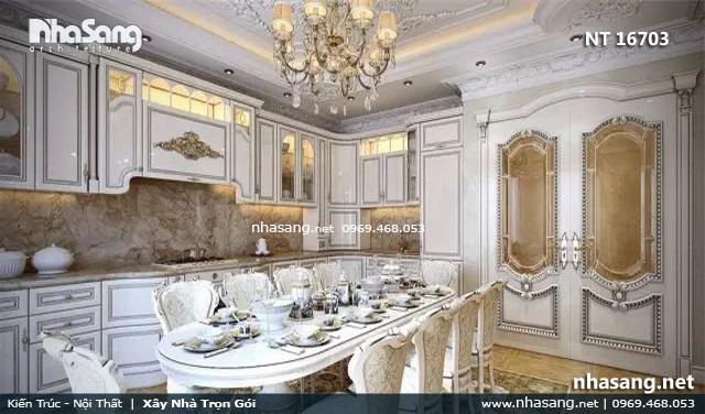 nội thất tân cổ điển phòng ăn