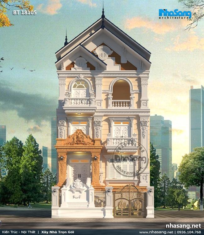 16 Biệt thự phố 5 tầng kiểu pháp 9x15m