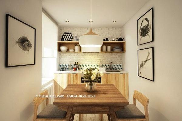 bàn ăn chung cư mini