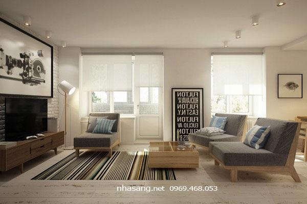 thiết kế nội thất chung cư mini 40m2