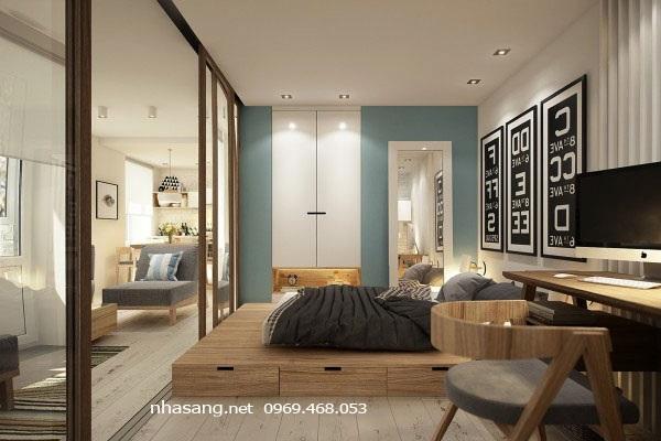 phòng ngủ chung cư mini