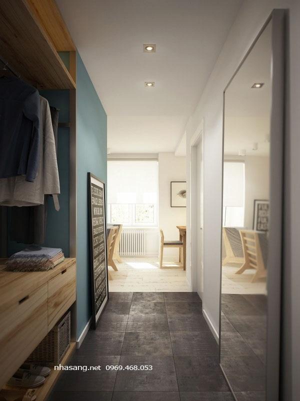tủ quần áo chung cư mini