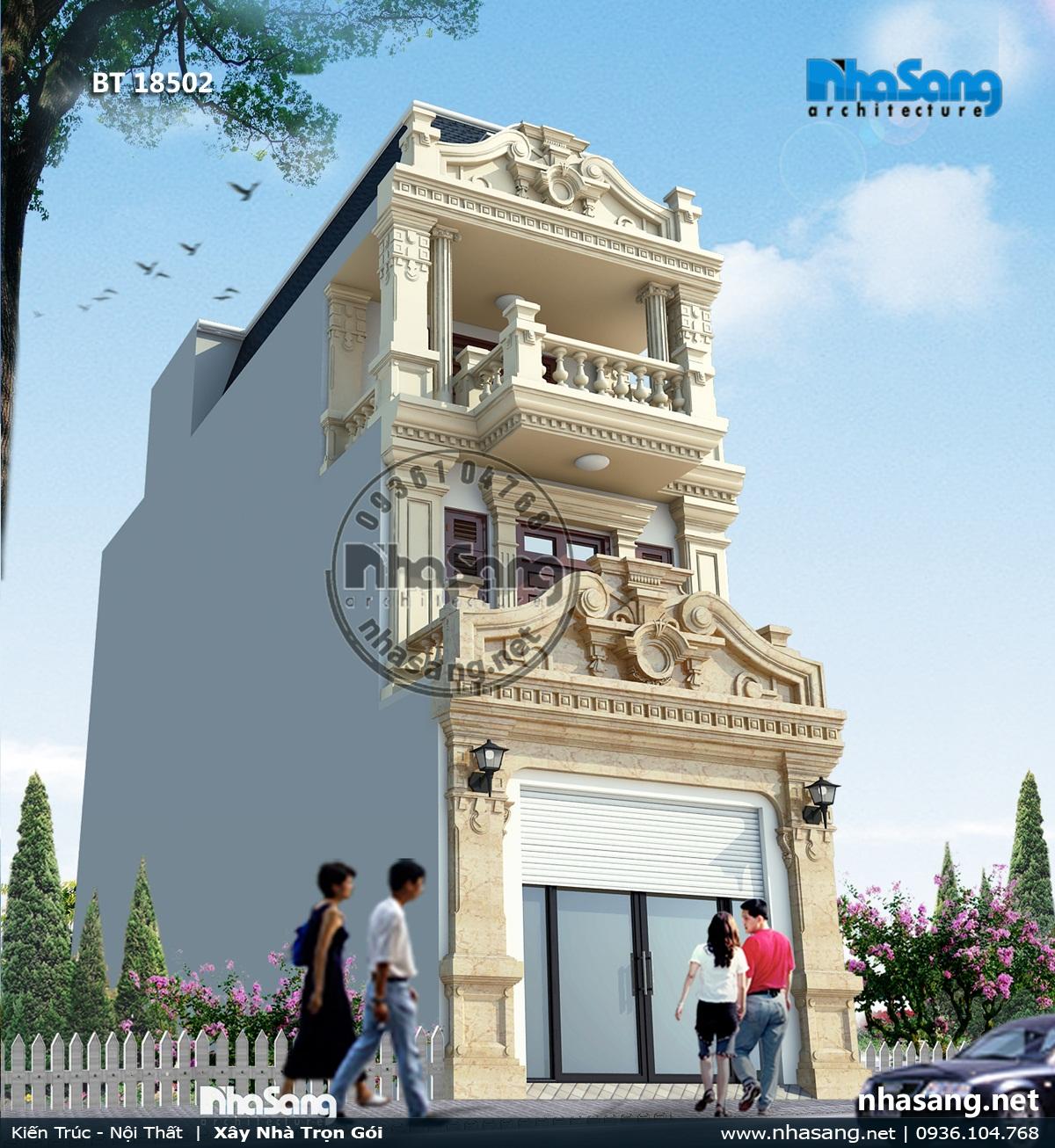 Nhà Pháp cổ mặt tiền 5m sâu 20m tại Bắc Ninh