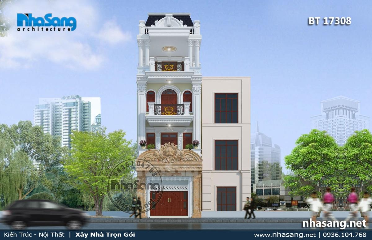 Nhà Pháp cổ 5m x 17m tại thành phố Bình Định