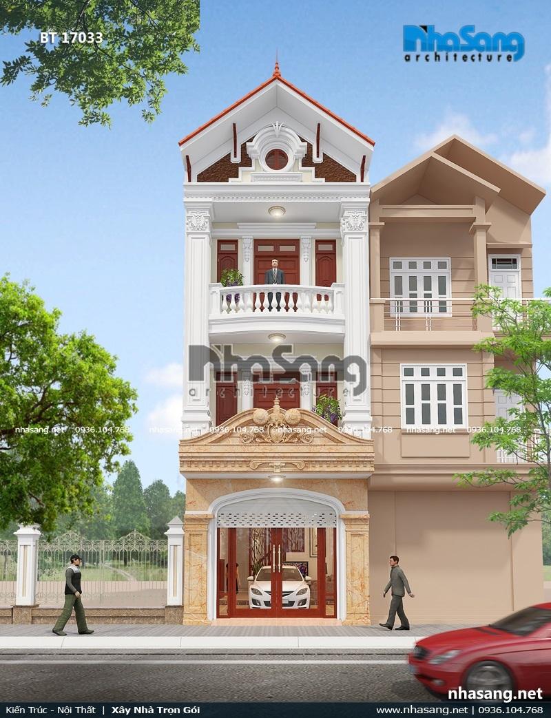 Nhà Pháp cổ 3 tầng tại phố núi Lạng Sơn