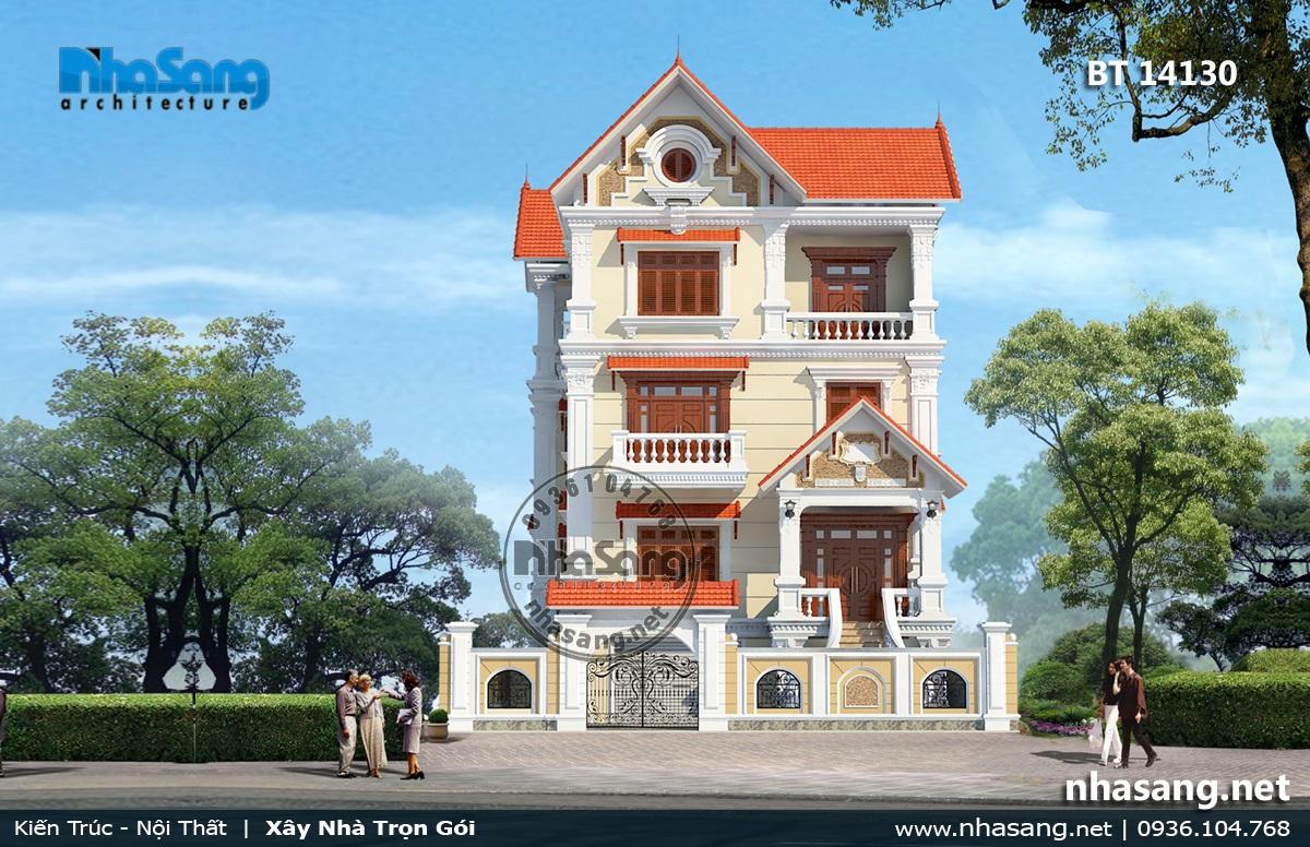Biệt thự Pháp tân cổ điển đẹp 4 tầng 11,2m x 11,3m