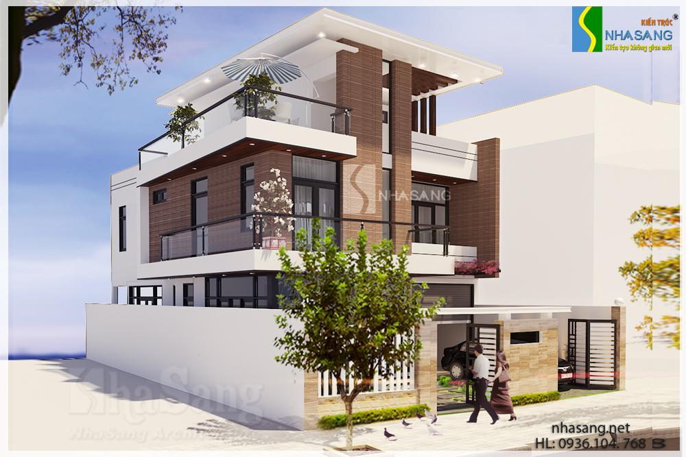 mẫu thiết kế biệt thự hiện đại 2-3 tầng đẹp
