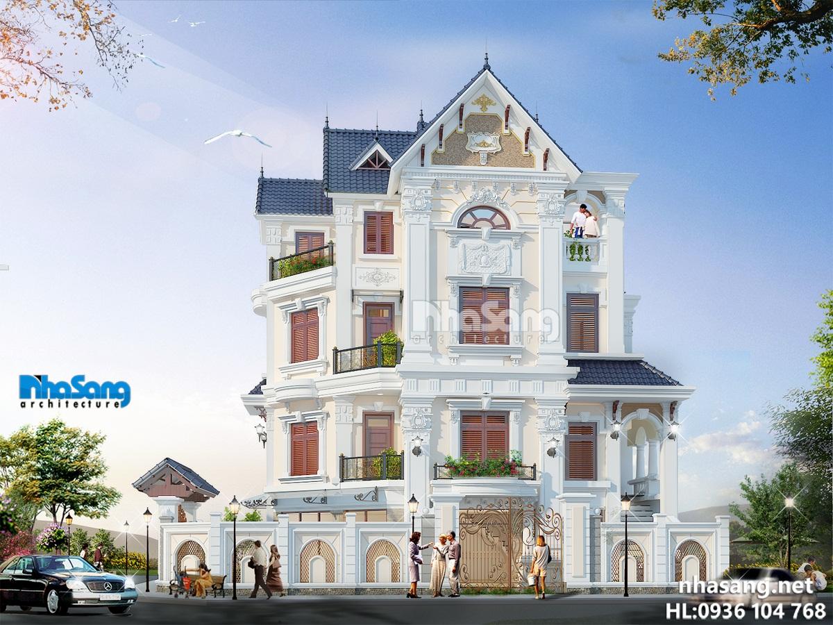 Biệt thự đẹp kiến trúc tân cổ điển Pháp