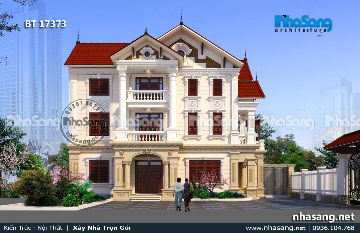Mẫu 5: Nhà 3 tầng