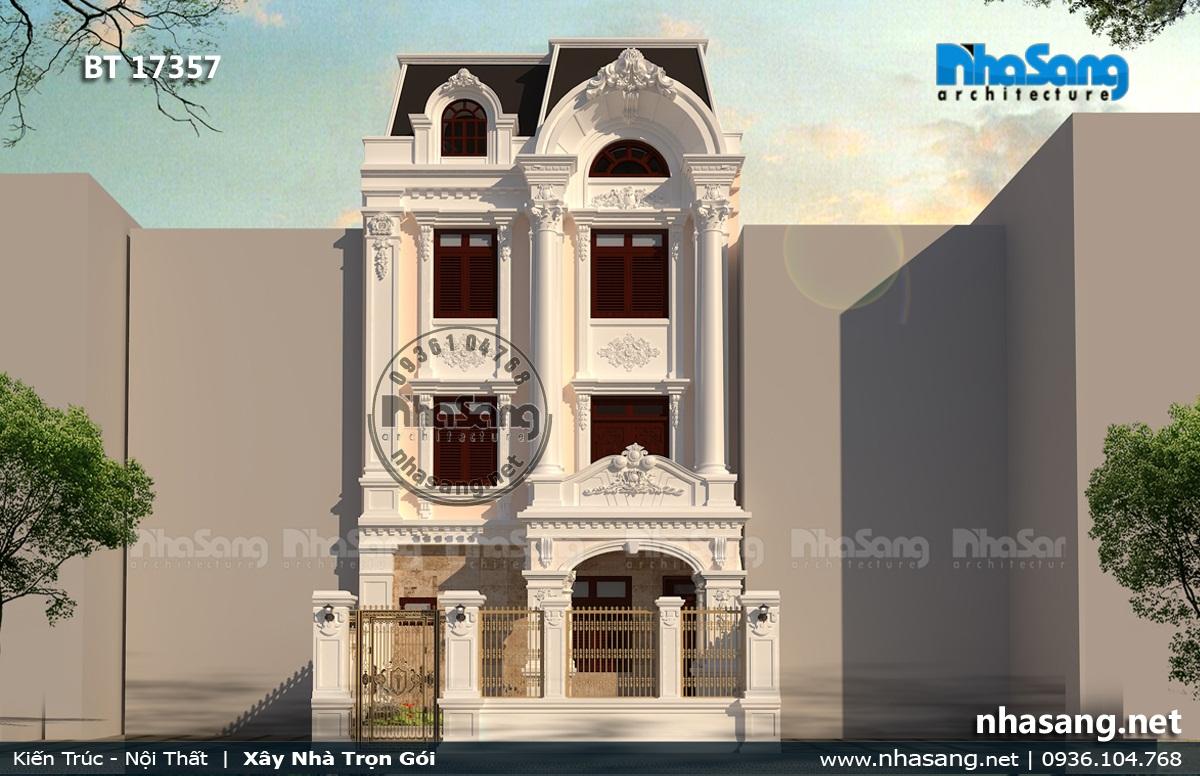 Mẫu 6: Nhà 3 tầng kiểu Pháp