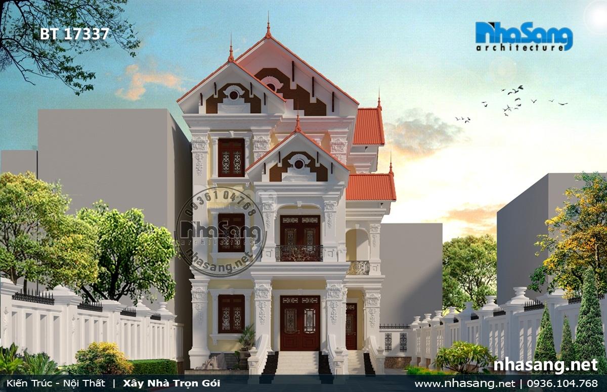Mẫu 8: Nhà 3 tầng mặt tiền 9m