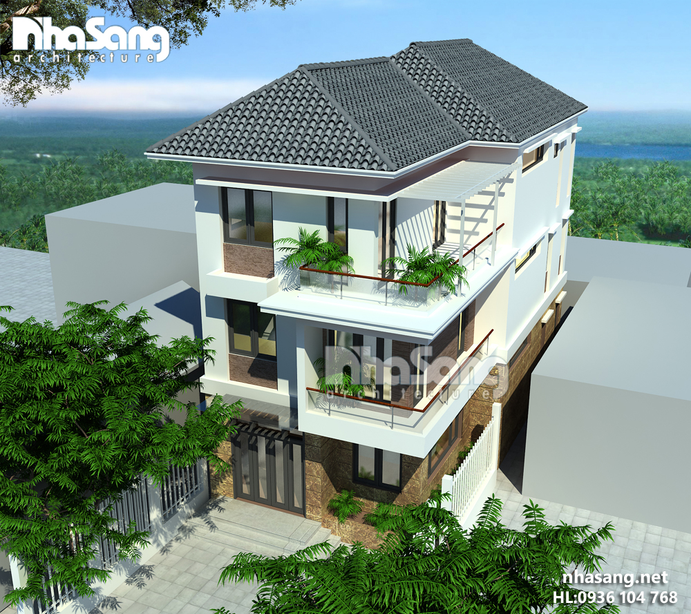 mẫu thiết kế nhà biệt thự 2-3 tầng đẹp