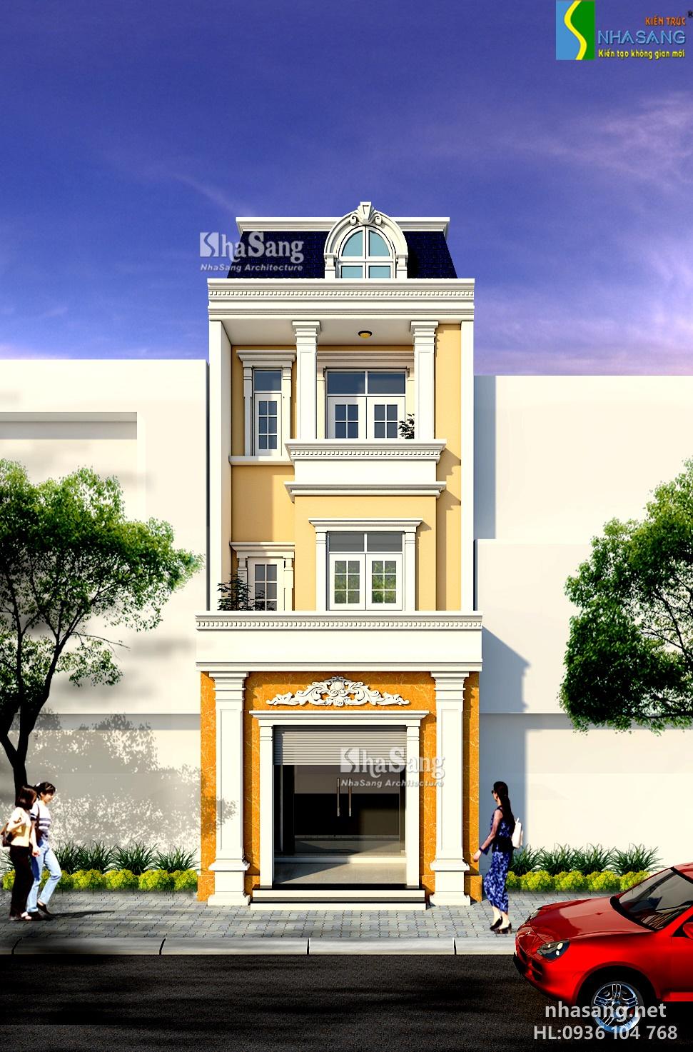 mẫu thiết kế nhà ống - nhà phố 2-3-4 tầng đẹp