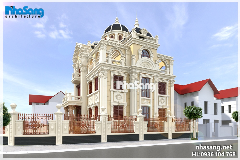 Biệt thự lâu đài kiến trúc Pháp cổ điển