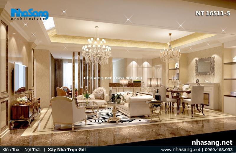 mẫu phòng khách biệt thự đẹp nt16511-5