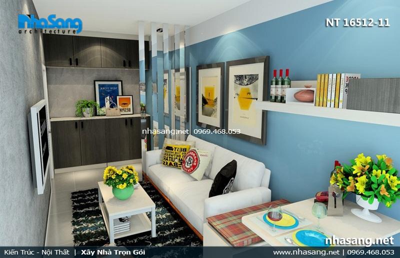 mẫu phòng khách nhỏ xinh căn hộ mini